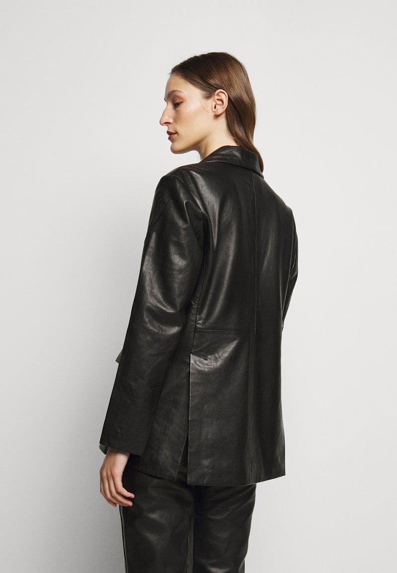 House of Dagmar - CHARLOTTE  - Leather jacket - black