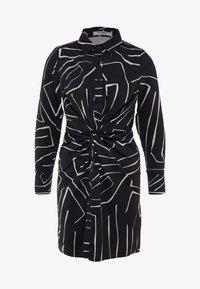 4th & Reckless Petite - TWISH KNOT DRESS - Shirt dress - black - 5