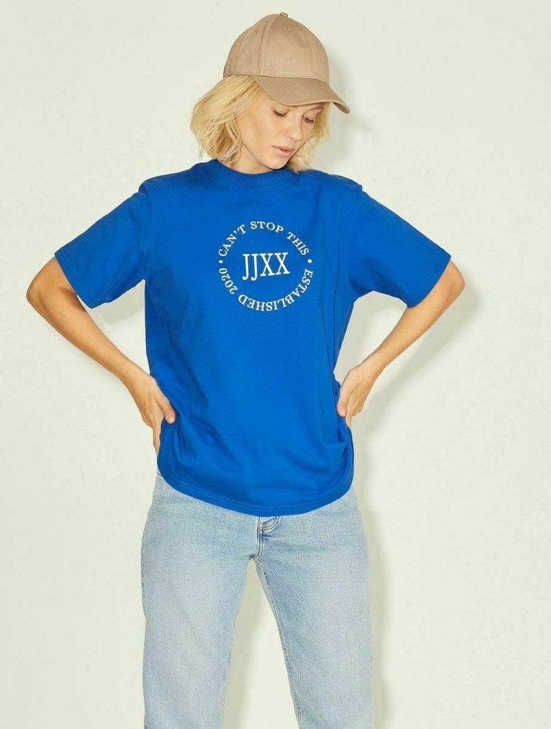 JJXX - T-shirt z nadrukiem - mottled dark blue