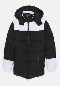 Guess - PADDED HOODED UNISEX - Zimní kabát - jet black - 0