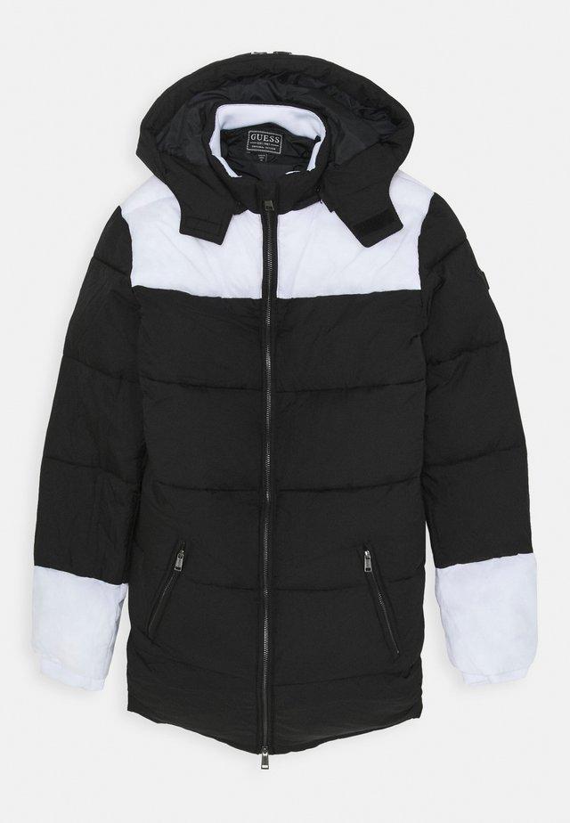PADDED HOODED UNISEX - Winter coat - jet black