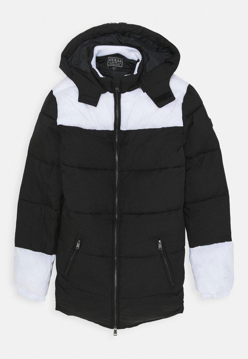 Guess - PADDED HOODED UNISEX - Zimní kabát - jet black