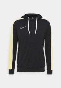 Nike Performance - DRY HOODIE - Langærmede T-shirts - black/saturn gold/white - 4