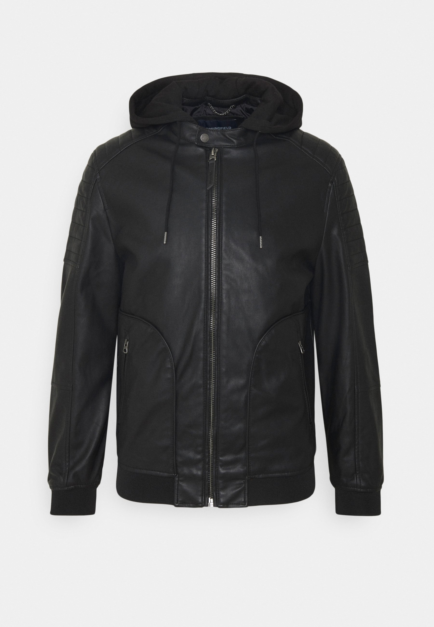 Men BIKER CAPUCHA - Faux leather jacket