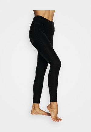 Leggings - black velvet
