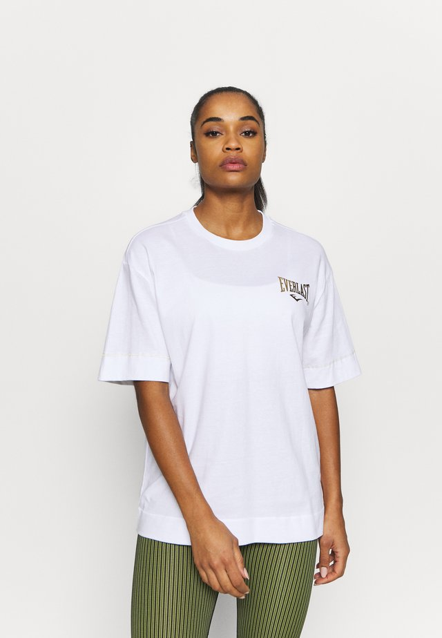 COLLIS - T-shirt imprimé - white