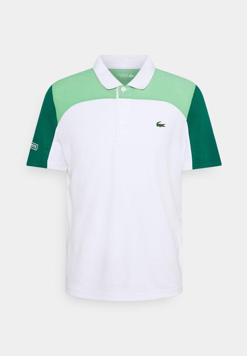 Lacoste Sport - TENNIS - Poloshirt - white/liamone bottle green