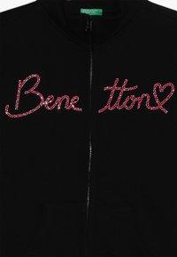 Benetton - JACKET - Zip-up hoodie - black - 2