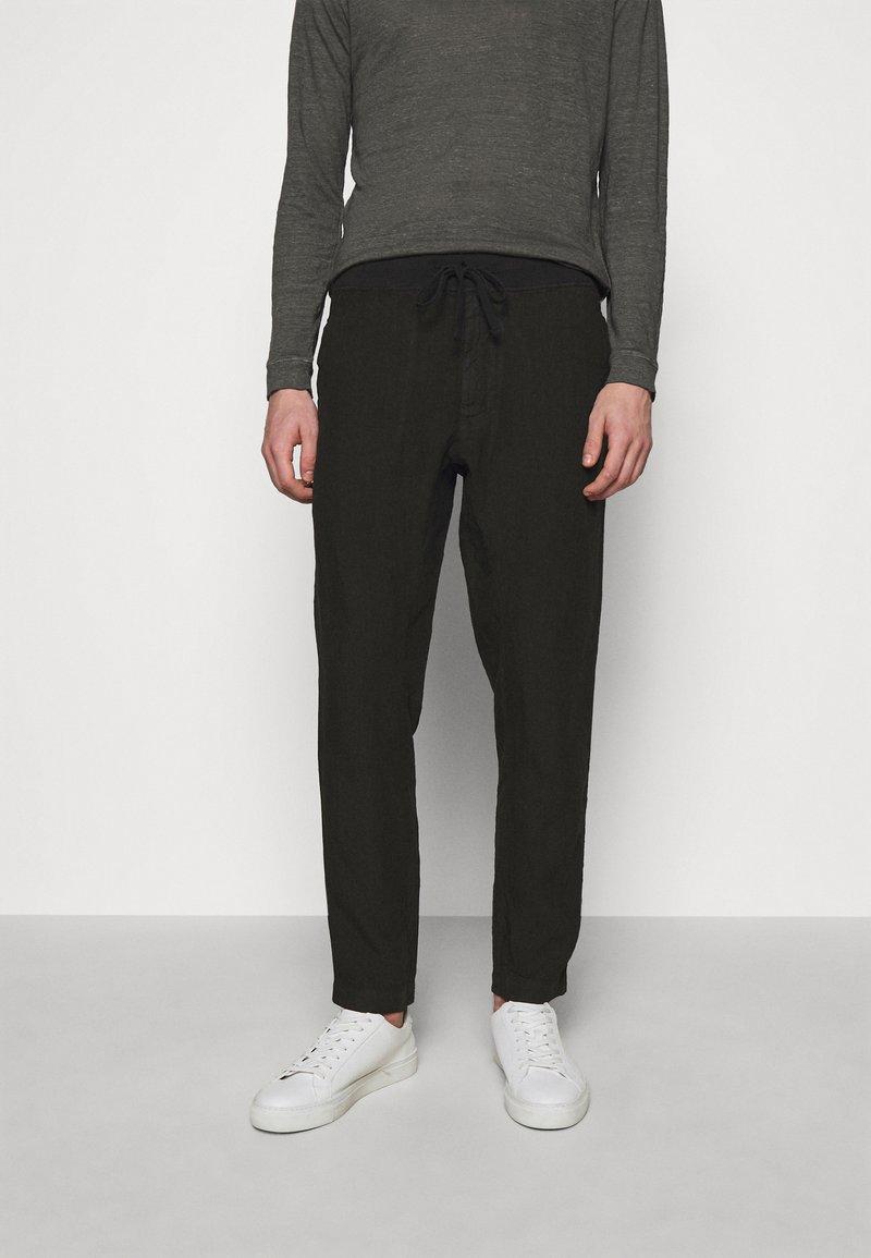 120% Lino - TROUSERS - Kalhoty - black