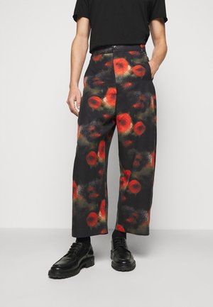 KEY PANTS ARTIST PRINT - Kalhoty - black