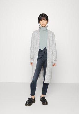 ONLSILJA LONG CARDIGAN - Zip-up sweatshirt - light grey melange