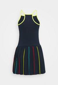 sergio tacchini - IRIS DRESS - Sports dress - navy/acid lime - 1