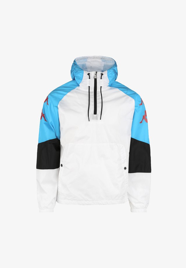 Veste coupe-vent - white / turquoise