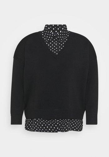 Jumper - polo black/dot