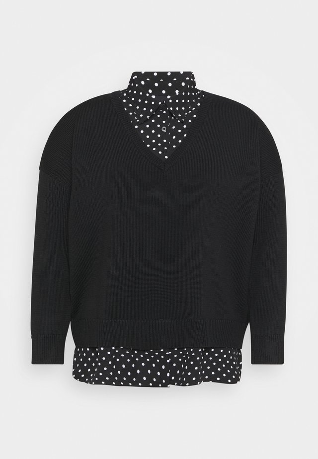 Pullover - polo black/dot