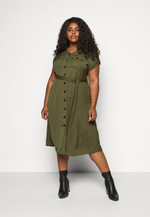 SHIRT DRESS - Vardagsklänning - khaki