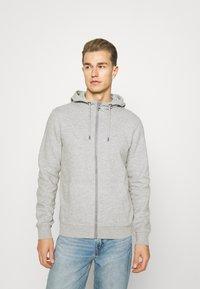 s.Oliver - Zip-up sweatshirt - grey melange - 0