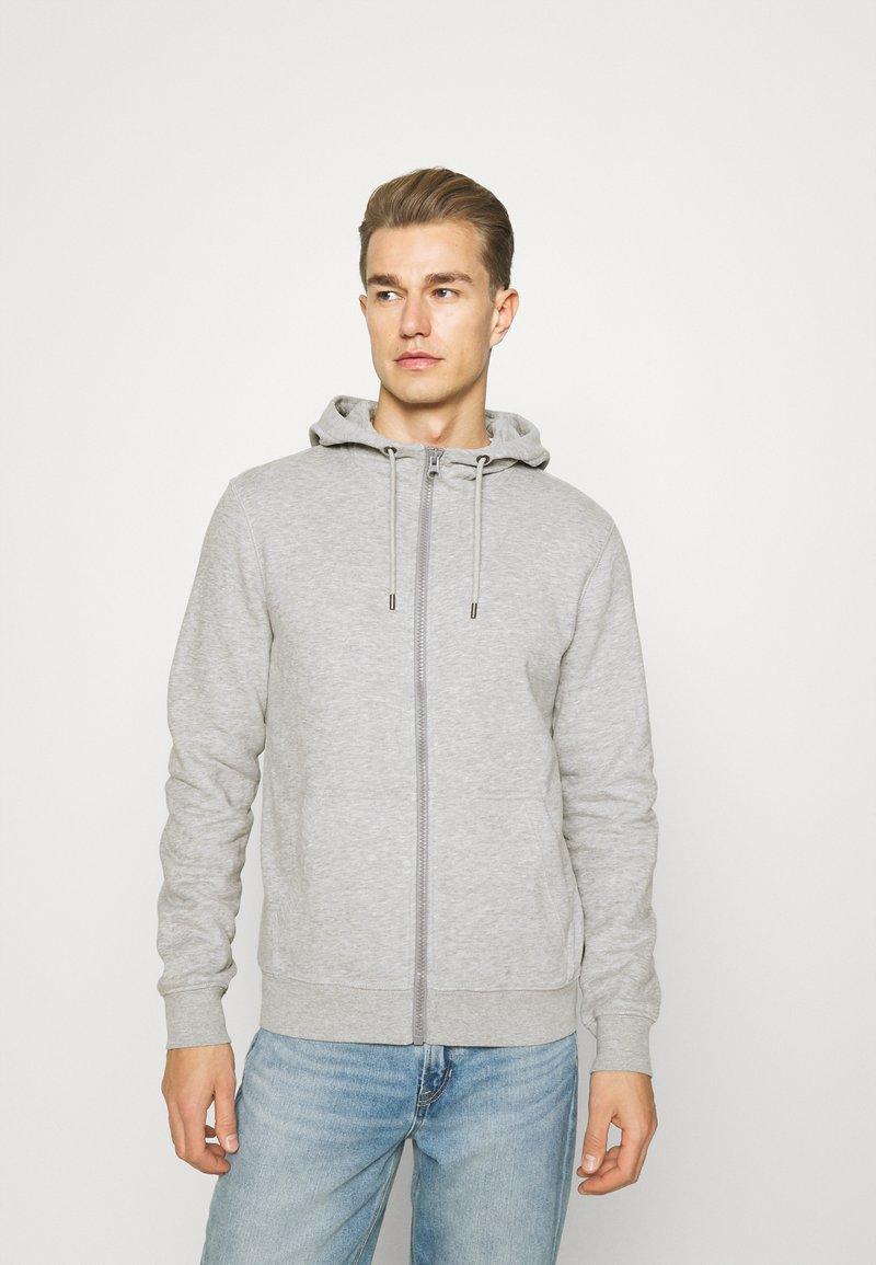 s.Oliver - Zip-up sweatshirt - grey melange