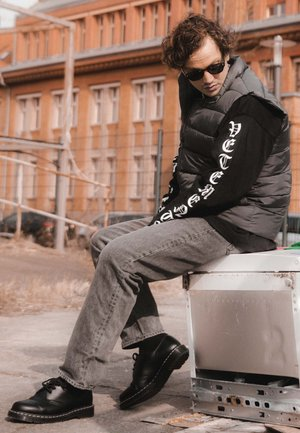 1461 - Casual snøresko - black smooth