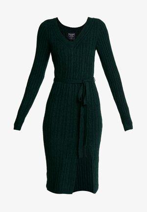 SIDE SLIT MIDI - Strikket kjole - dark green