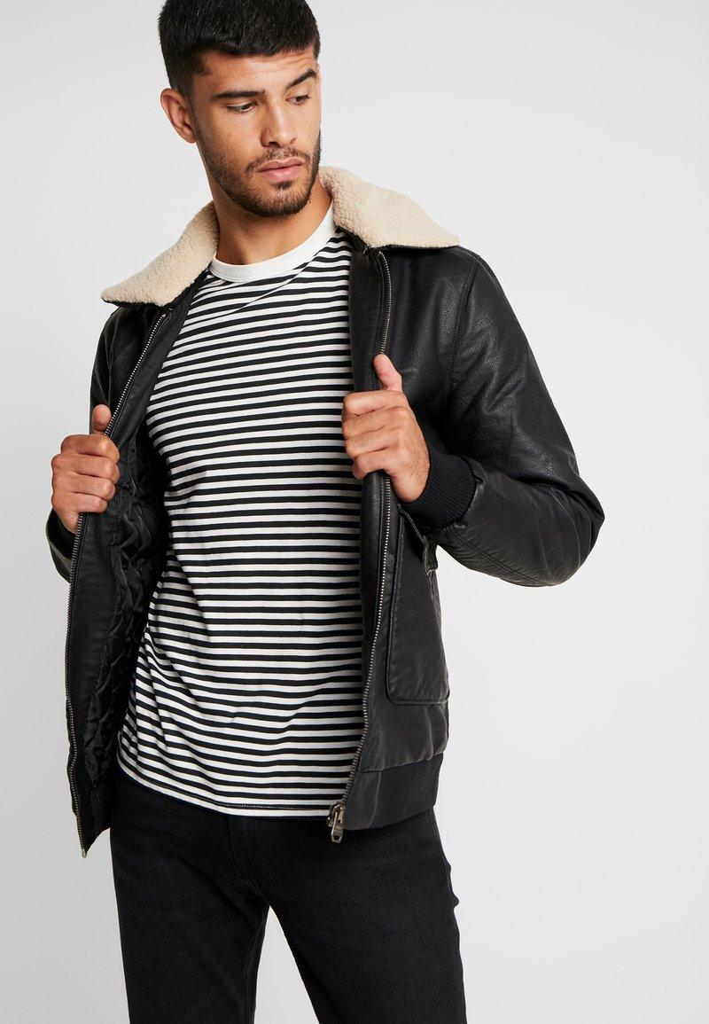 Tiffosi - FLYER - Faux leather jacket - black