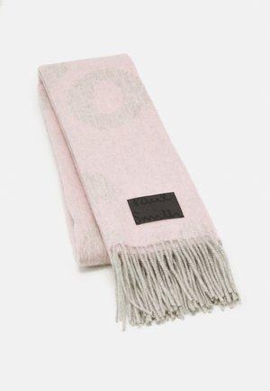WOMEN SCARF LOGO TEXT - Šála - mottled light pink/off-white