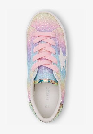 MULTI GLITTER STAR LACE-UP TRAINERS (OLDER) - Tenisky - pink