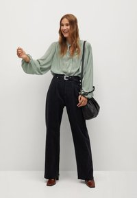 Mango - MINT - Button-down blouse - vert pastel - 1