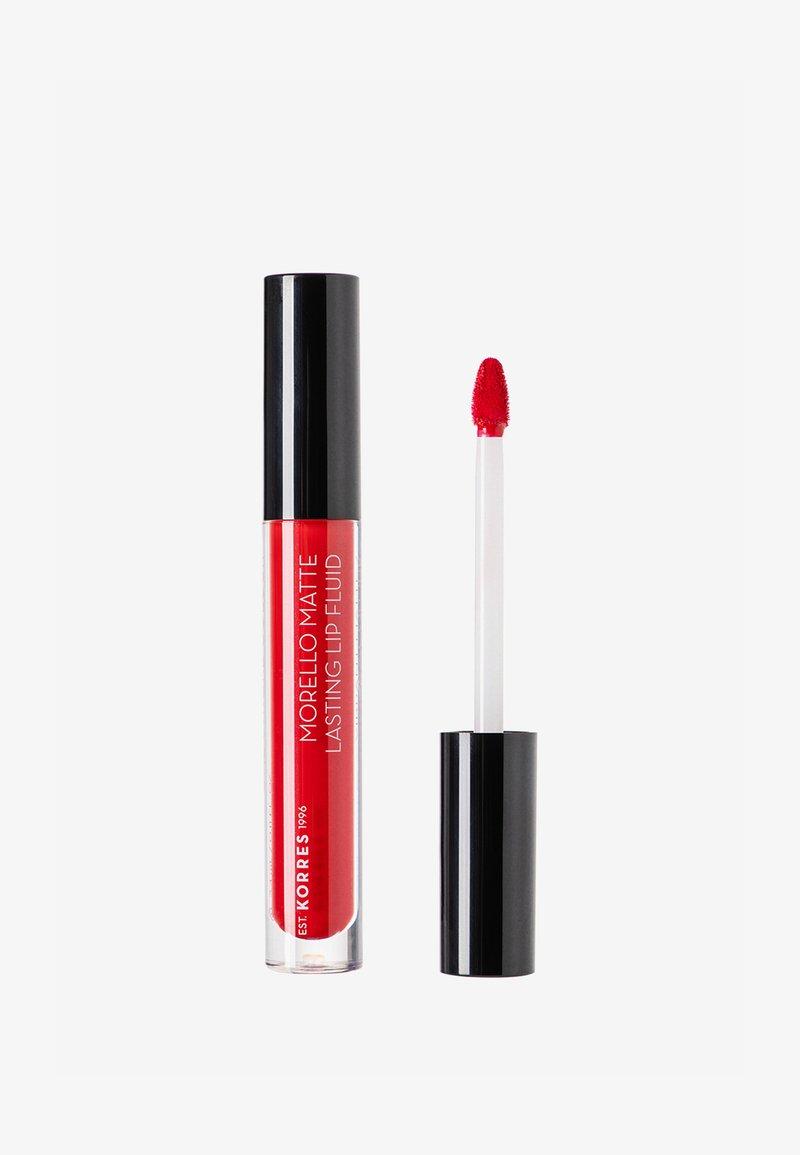 Korres - MORELLO MATTE LASTING LIP FLUID - Liquid lipstick - 53 red velvet