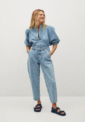 LOLA - Button-down blouse - middenblauw