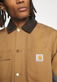 Carhartt WIP - MICHIGAN COAT DEARBORN - Kurtka wiosenna - hamilton brown rinsed - 5