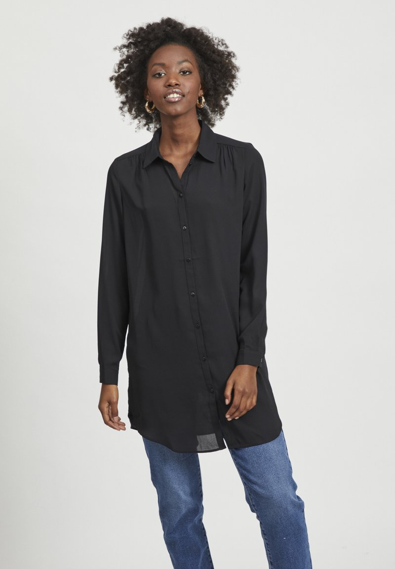 Vila - VILUCY NOOS - Button-down blouse - black