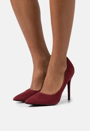 WIDE FIT CATERINA STILETTO COURT - Classic heels - bordeaux