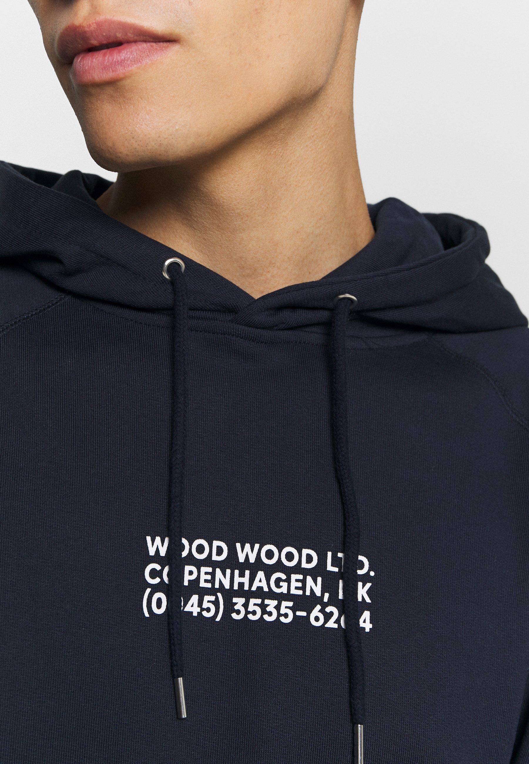 Wood Fred Hoodie - Navy/mørkeblå