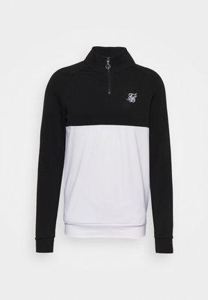 SURFACE QUARTER ZIP FUNNEL - Long sleeved top - black/white