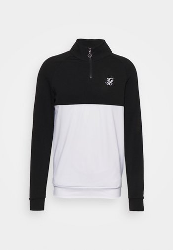 SURFACE QUARTER ZIP FUNNEL - Maglietta a manica lunga - black/white