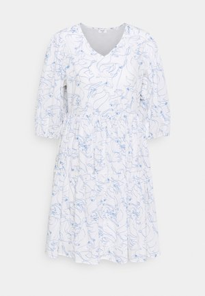 DRESS WIDE SLEEVES - Day dress - scandinavian white