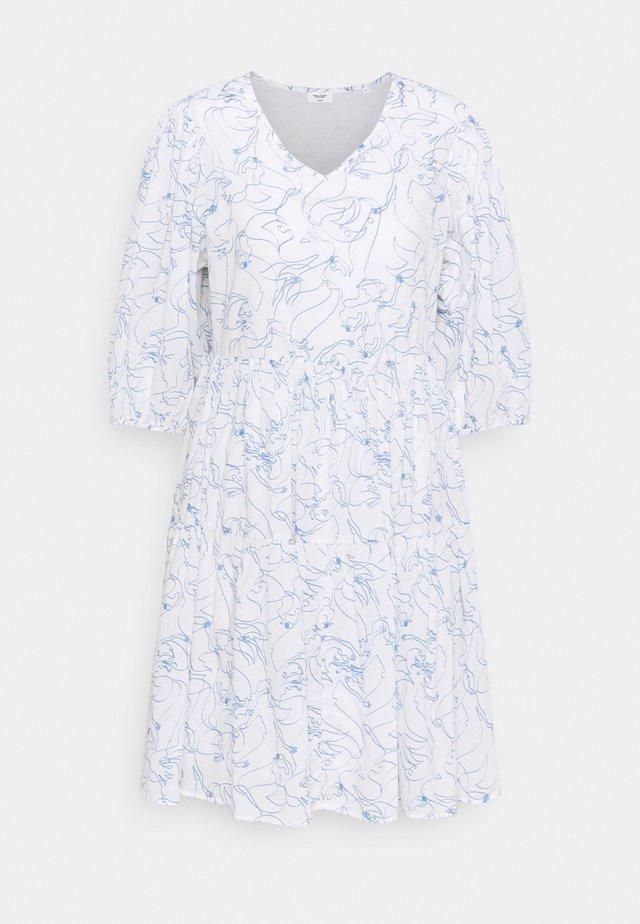 DRESS WIDE SLEEVES - Sukienka letnia - scandinavian white