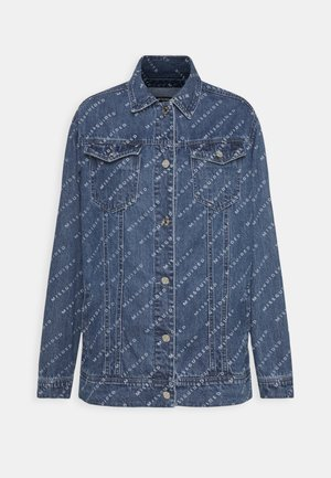PRINT JACKET - Denim jacket - blue