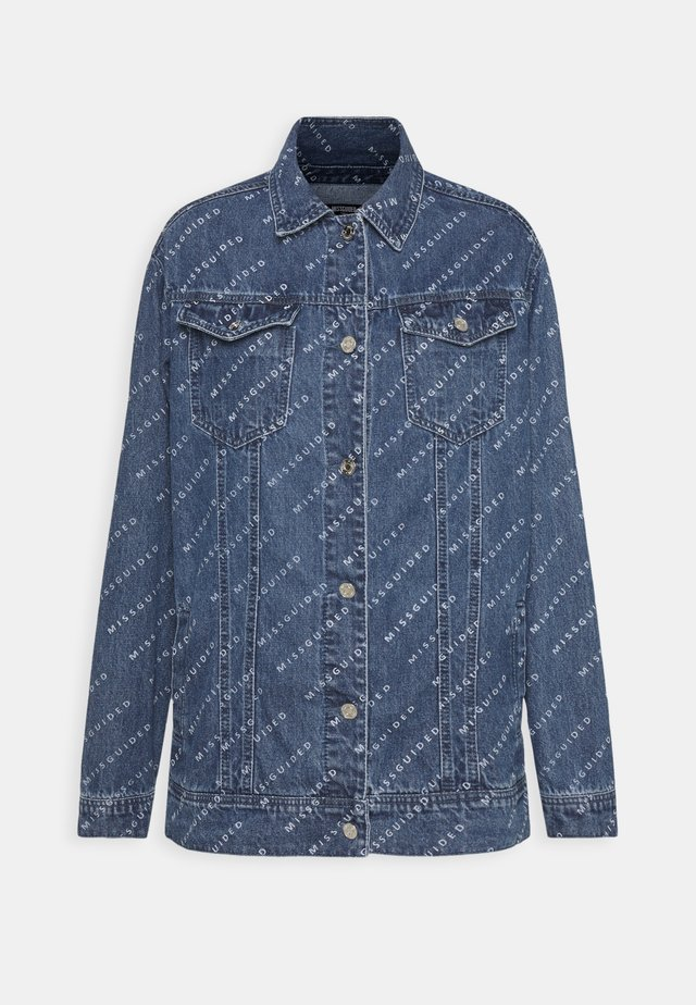 PRINT JACKET - Veste en jean - blue