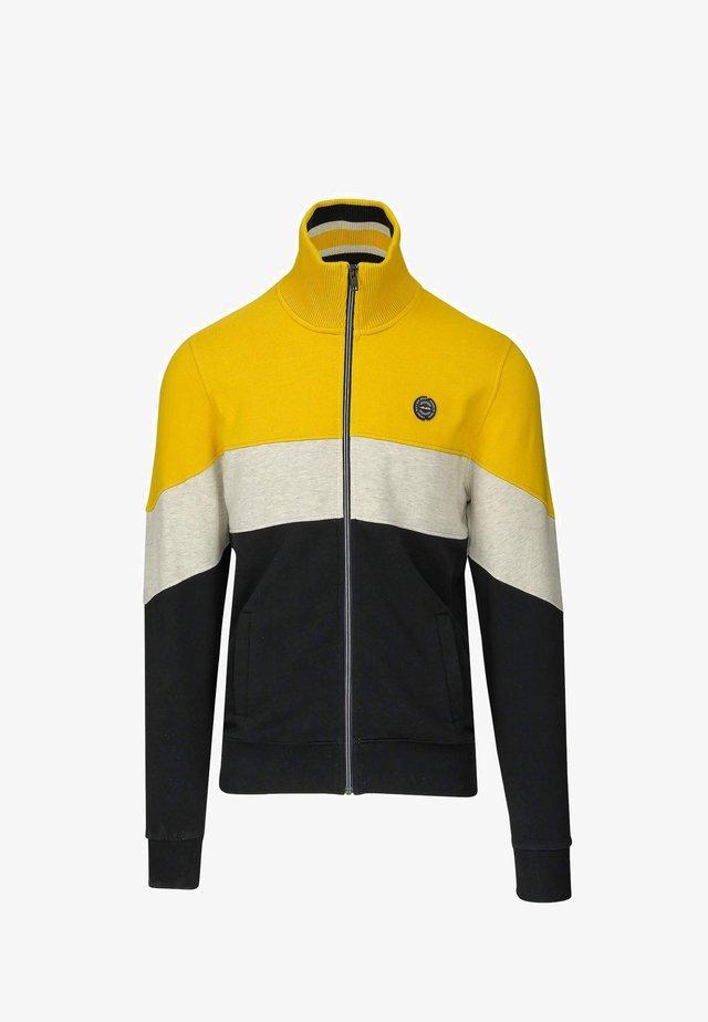 veste en sweat zippée - geel