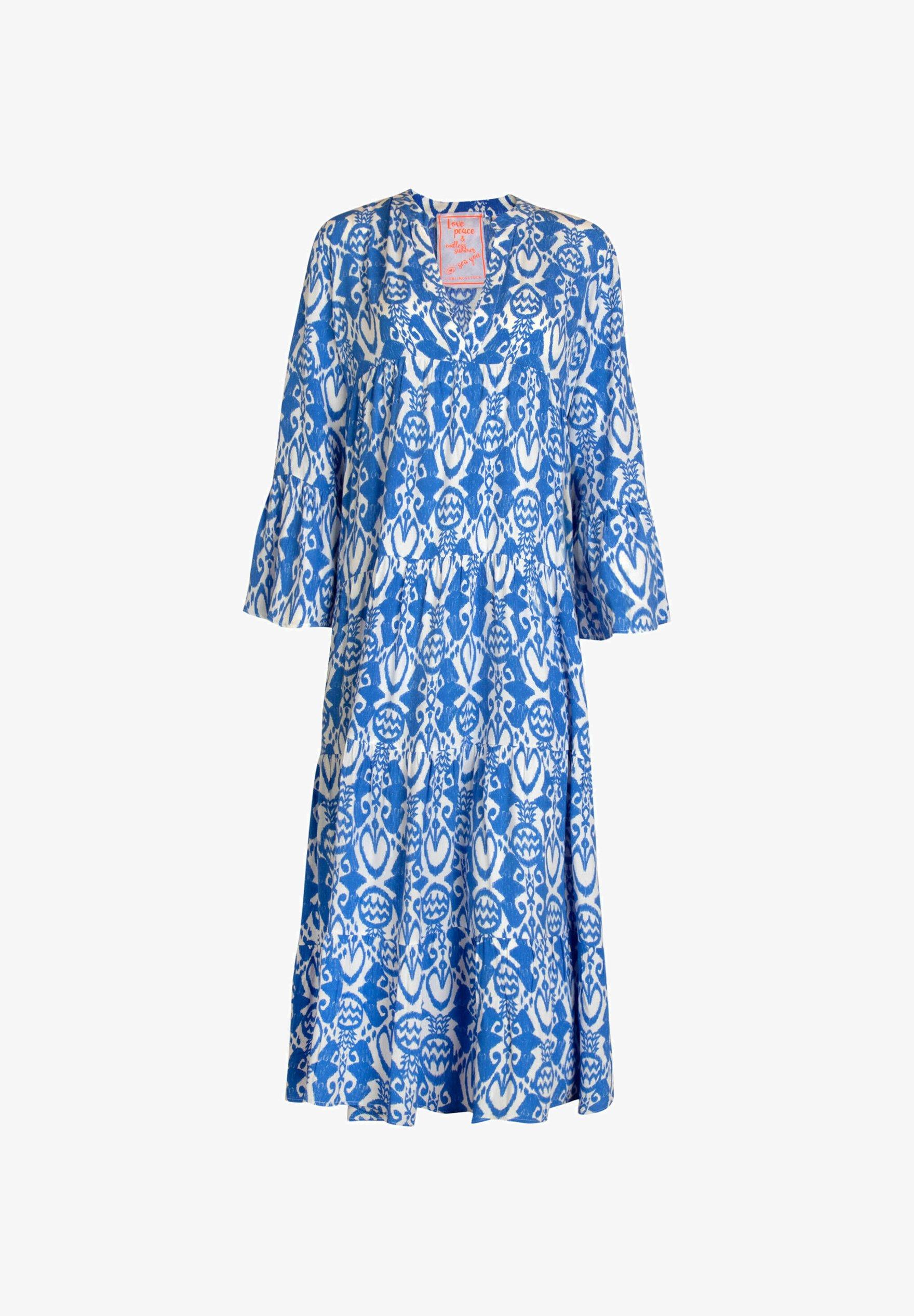 Lieblingsstuck Damen Sommerkleid Eldal Day Dress Blau 51 Blue Zalando De