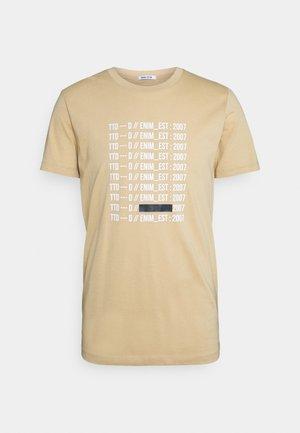CREWNECK - T-shirt imprimé - lark beige