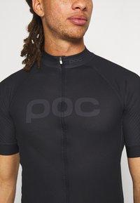 POC - ESSENTIAL ROAD LOGO  - T-Shirt print - uranium black - 4