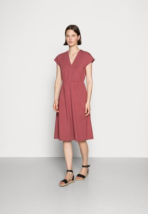 SHORT SLEEVES MIDI DRESS  - Jersey dress - pink