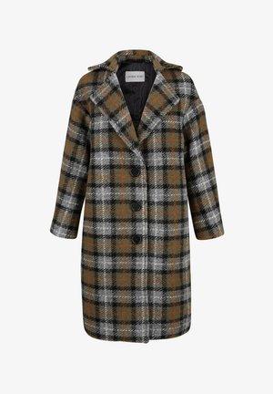 Winter coat - dunkelgrün/schwarz