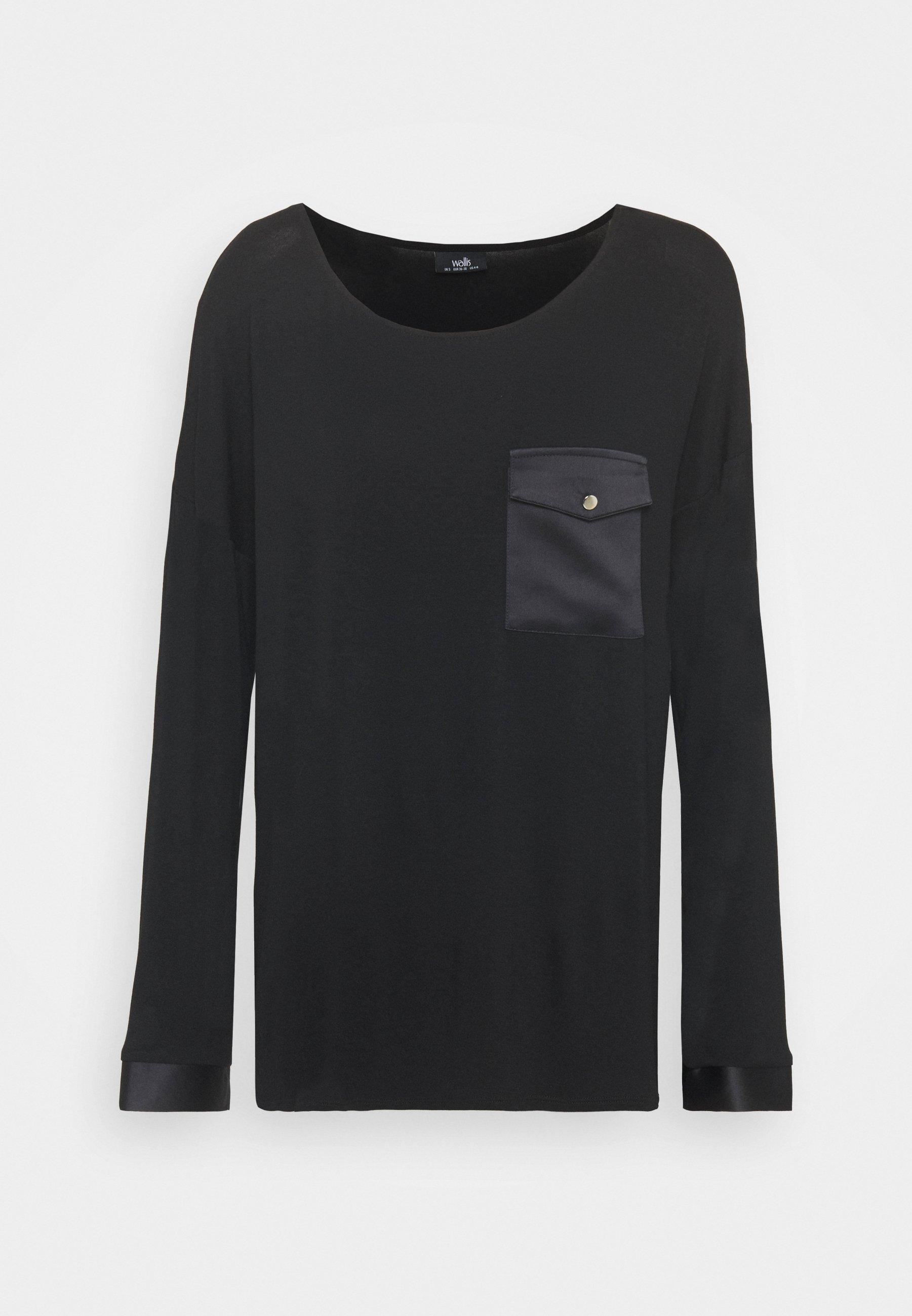 Women POCKET LONG SLEEVE TEE - Long sleeved top