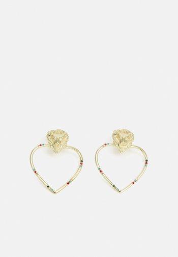 PCLIONY EARRINGS - Earrings - gold -coloured