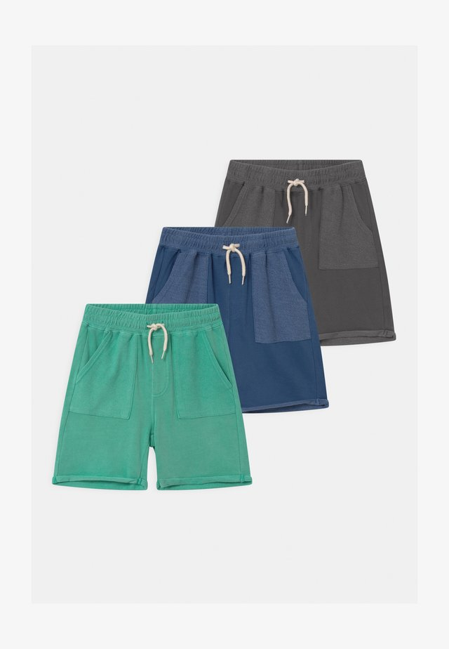 HENRY SLOUCH 3 PACK - Tracksuit bottoms - baltic sea/petty blue/rabbit grey