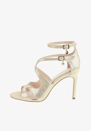 TARGIANO  - High heeled sandals - platinum